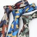 FÁCIL TOMA de Bolo Para Hombres Diseñadores 6 cm Corbata Jacquard Marca Militar Camuflaje Flaco Corbata Gravata de Microfibra Impermeable