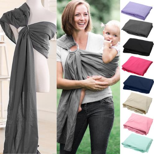 Baby Infant Sling Wrap Soft Natural Wrap Fashion Mother Baby-Carrier 0-2 Yrs Breathable Cotton Hipseat Nursing Cover(China)