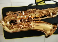 Free Shipping France Henri Selmer Saxophone Alto 802 Tenor Sax Gold Curved Saxfone Mouthpiece Electrophoresis