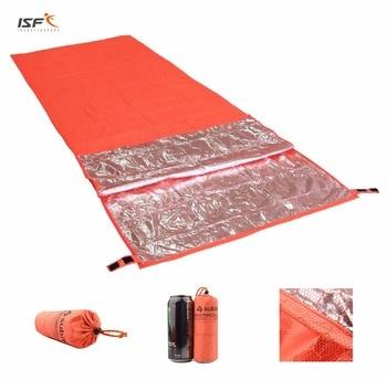 Outdoor Camping Hiking Mini Ultralight Portable Survival Emergency Envelope Sleeping Bag Waterproof Warm Single Sleeping Bag