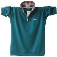 Hohe Qualität Männer Langarm Baumwolle Polo-Shirt Herbst Herrenkleidung Plus Beiläufige Feste Polo Shirts 4XL 5XL A1526