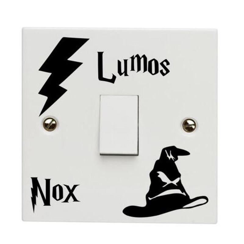 Modern Harry Lumos NOx Funny Switch Sticker Rroom Wall Sticker A0014