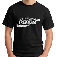 2018 Fashion New Drink Coke Classic Black Men S T Shirt Size S 3XL Men T