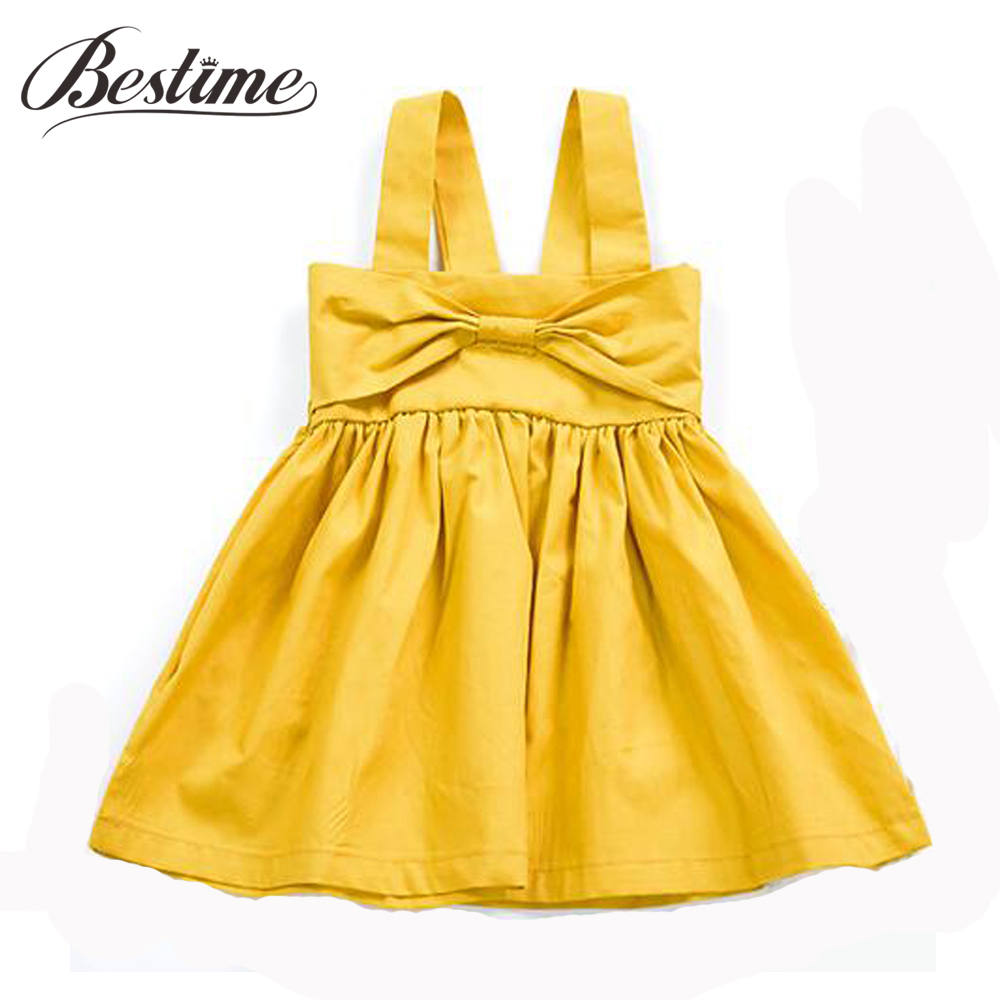 Dress Toddler Girl Clothes Baby-Girl Kids Fashion Cotton Sleeveless Ginger Bow