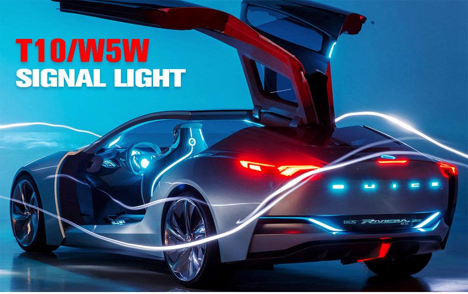 Foxcncar led W5W led T10 cob glass car light Led filament auto automobiles reading dome bulb lamp DRL car styling 12v  (1)