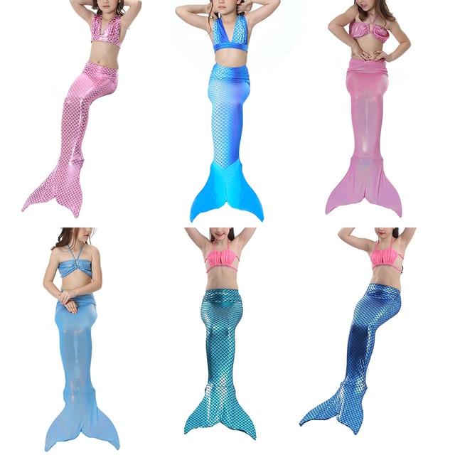 Bonjean Halloween Girl Mermaid Tail Swimming Costume Princess