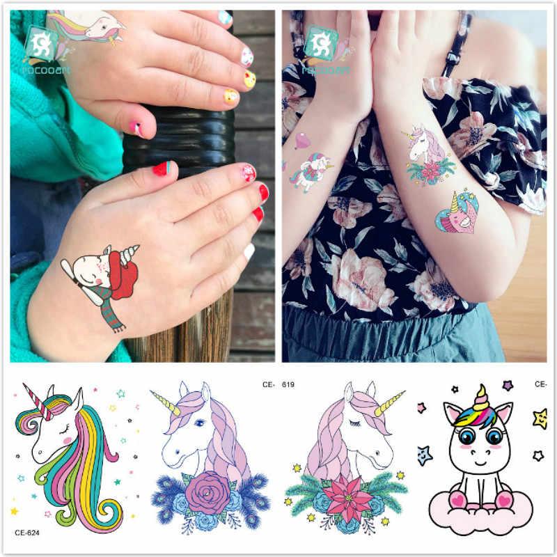 Lolede 1 Pcs Kids Elegan Kartun Unicorn Warna Kertas Mainan Anak Seni Kerajinan DIY Mainan Pendidikan Kerajinan Mainan