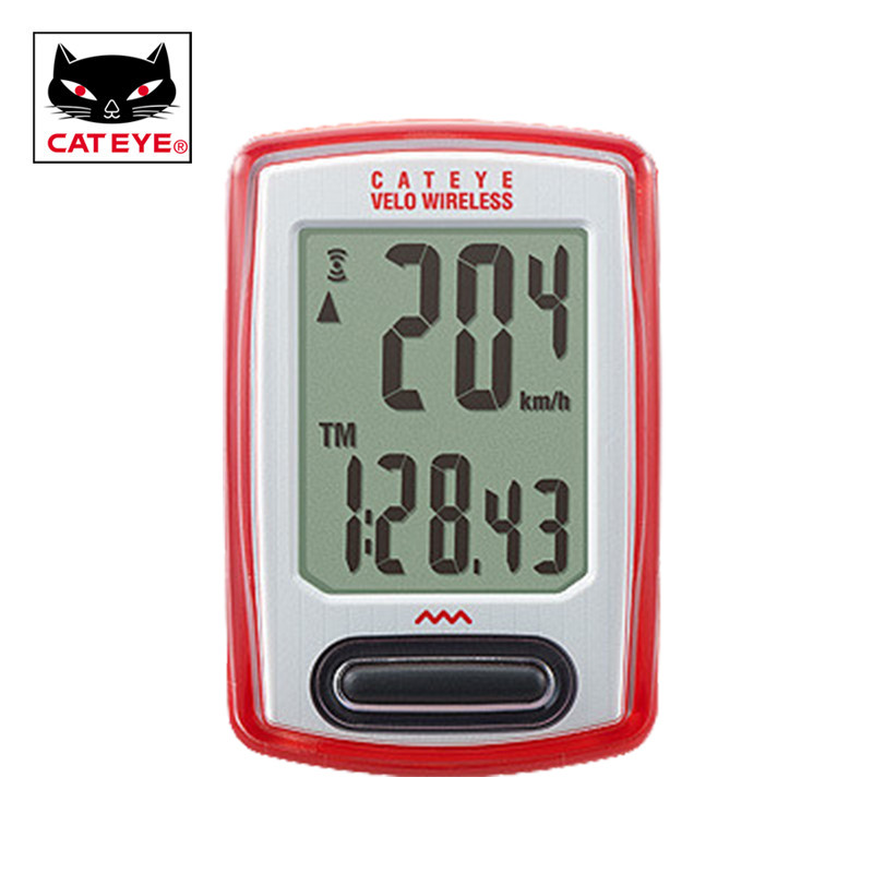 цена на CATEYE Velo Wireless Bicycle Computer Wireless+ Cycling Sports Stopwatch Odometer Speedometer Calorie log 8 Functions CC-VT230W