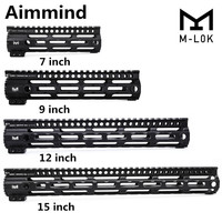 AR 15 M4 M16 MLOK 7 9 1215inch Slim Free Float Handguard Picatinny Rail Mount Bracket for Hunting Tactical Rifle Scope Mount