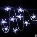 1.5M 10LED Battery Operated LED lamps star fairy light string for Christmas Wedding Garden Party garland window decorations