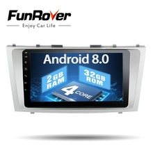 Funrover 2 Din Android 8.0 Car Dvd Player For Toyota Camry 2007 2008 2009 2010 2011 Car Radio Multimedia Gps Navigation Rds FM