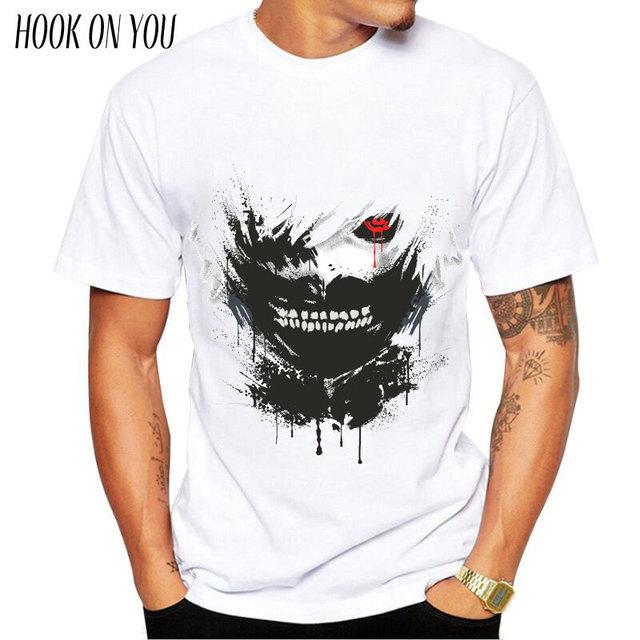 Tokyo Ghoul Graphic T-Shirts Tees Short Sleeves Summer Ken Kaneki Cotton