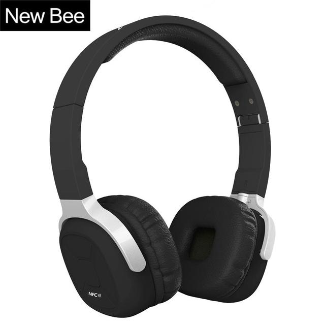 New bee carpeta auriculares bluetooth podómetro portátil auricular bluetooth deporte auricular con micrófono auricular caso para el teléfono de pc tv