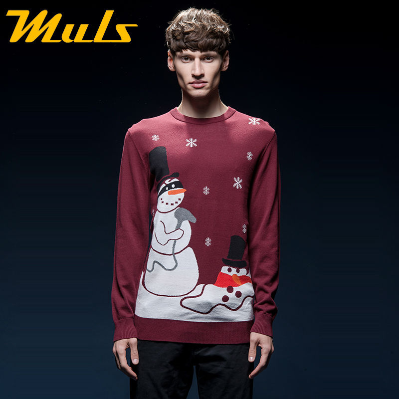 Online Shop Ugly christmas sweater pullover men brand cotton O ...