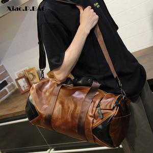 Image 1 - Xiao.P Men Handbag Large Capacity Travel Bag Designer Shoulder Messenger Luggage Bags Good Quality Casual Crossbody Travel Bags