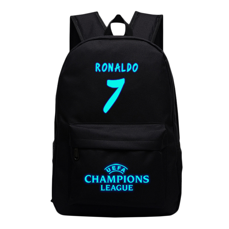 Fashion 7 Bag Cristiano Ronaldo Lumious Backpacks For Teenagers Girls Nylon Laptop Schoo ...