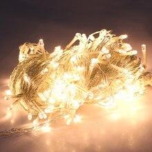 20m/66ft 18w 200-led string fairy light lâmpada interior ao ar livre branco quente para o natal festa de casamento branco quente eua plug