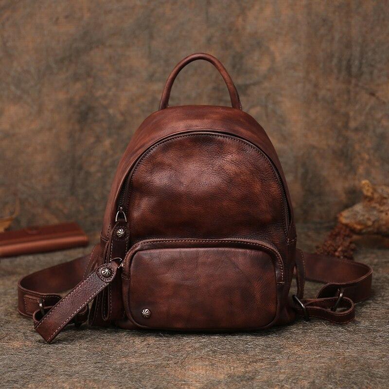 2019 sac à bandoulière Vintage en cuir fait main nouvelle première couche en cuir souple sac pour femme sac à dos de voyage de loisirs