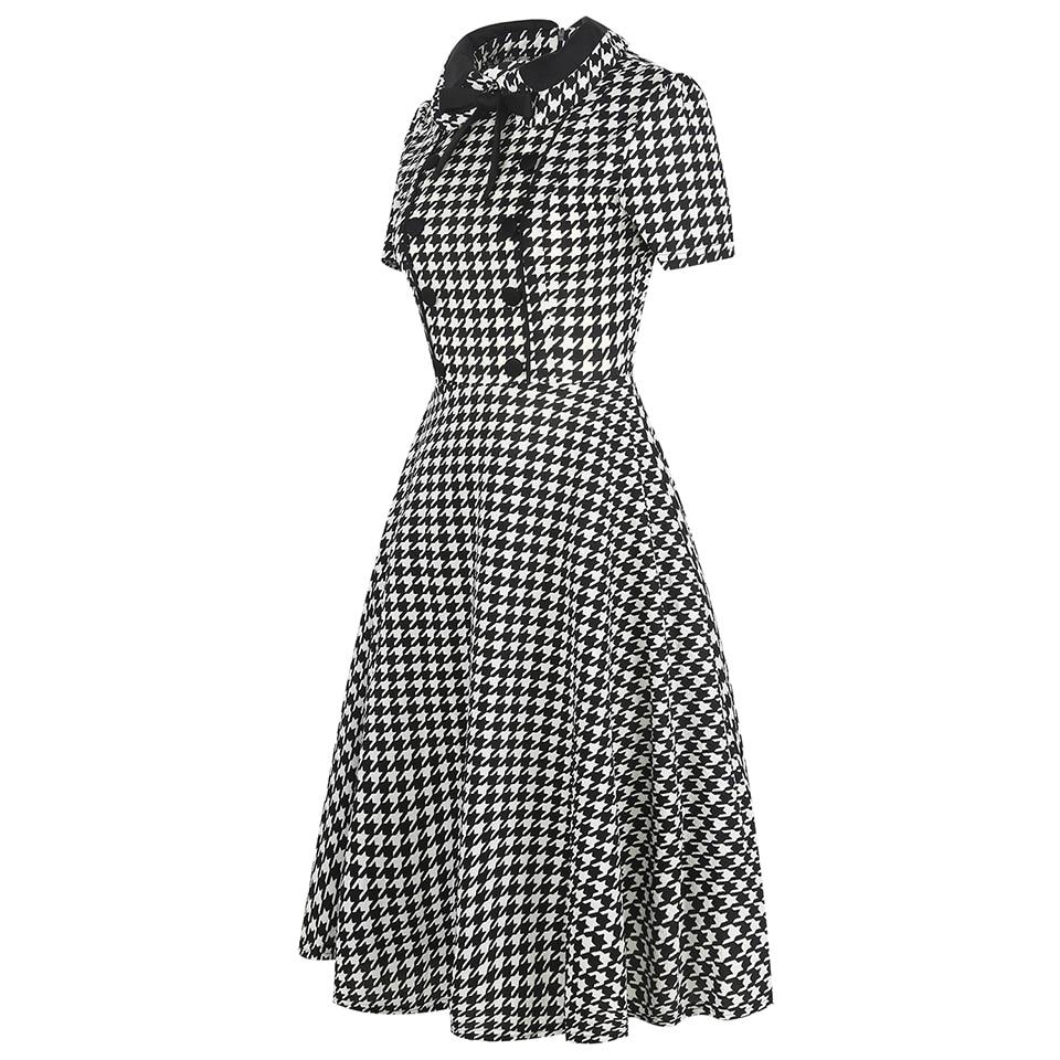 Oxiuly Ženska Odjeća 2018 Ljeto Gingham Polka Dot Houndstooth Swing - Ženska odjeća - Foto 3
