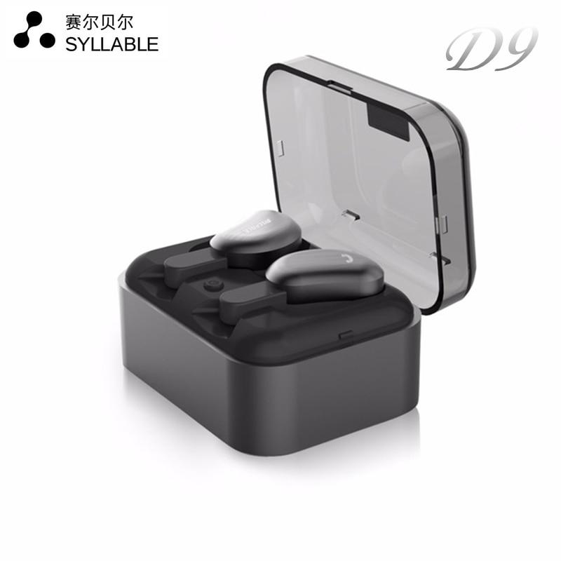 Слог D9 Беспроводной вкладыши СПЦ гарнитура Bluetooth металлический заряд случае Bluetooth наушники для телефона микрофон для звонков IPX4 пот доказат…