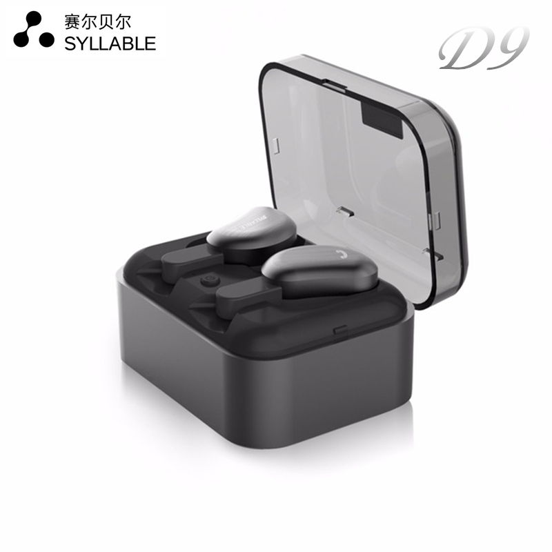 SYLLABLE D9 Wireless Earbud TWS Bluetooth Headset Metal Charge Case Bluetooth Earphone for Phone Mic for Calls IPX4 Sweat proof