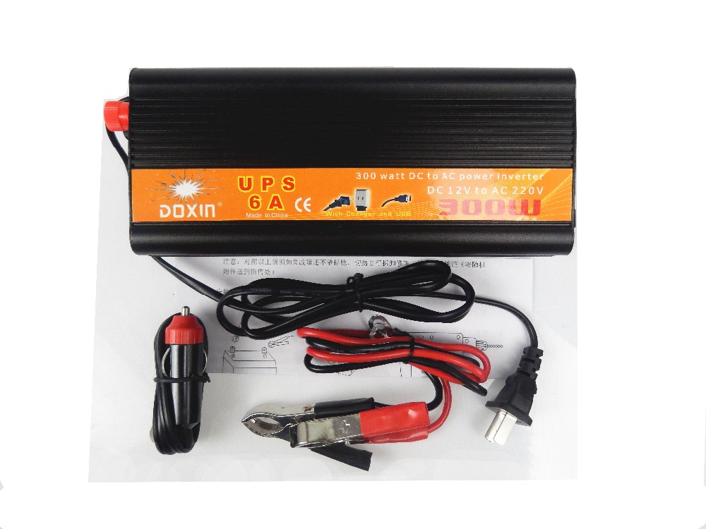 UPS DC AC Car Power Inverter 300W 12V 220V Universal Inverter Uninterrupted Power Supply
