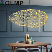 modern creative cloud light fixtures led pendant lamp starry personality hotel restaurant bar designer firefly moderne lustre
