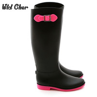 Colorfull High Quality Matt Color Fashion Designer Women S PVC Rainboots 2017 New Rain Water Boots