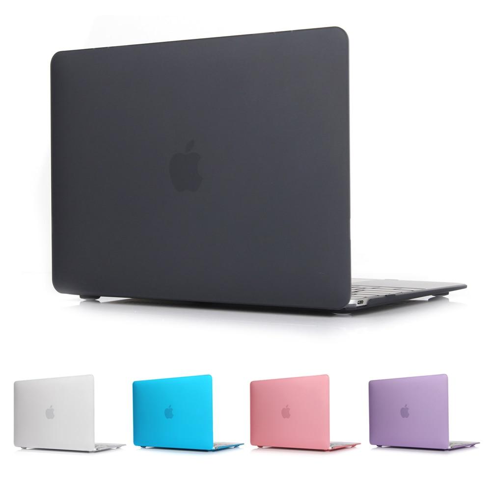 Nuovo Duro di Cristallo Glassata Opaca Caso Della Copertura Del Manicotto per MacBook Air 11 A1465/aria 13 pollice A1466 13.3 pro 15 A1278 retina 13 A1502