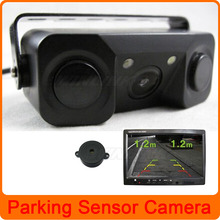 Dual Core CPU LED Light Car Rear View Camera Reverse with Parking Sensor Sound Alarm Parking Assistance System