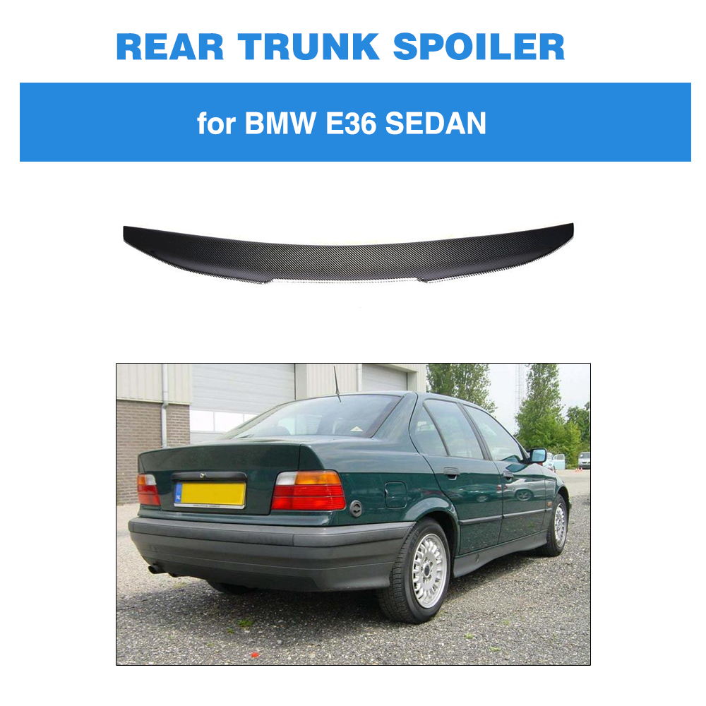 For BMW 3 Series E36 Sedan 1991 - 1998 PSM Style Trunk Lip Spoiler Carbon Fiber Rear Wing Boot LidFor BMW 3 Series E36 Sedan 1991 - 1998 PSM Style Trunk Lip Spoiler Carbon Fiber Rear Wing Boot Lid