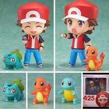 2016 10CM Pokemon Action Figure Toy Nendoroid Ash Ketchum Zenigame Charmander Bulbasaur Action Figure Pokemon Anime Freeshopping