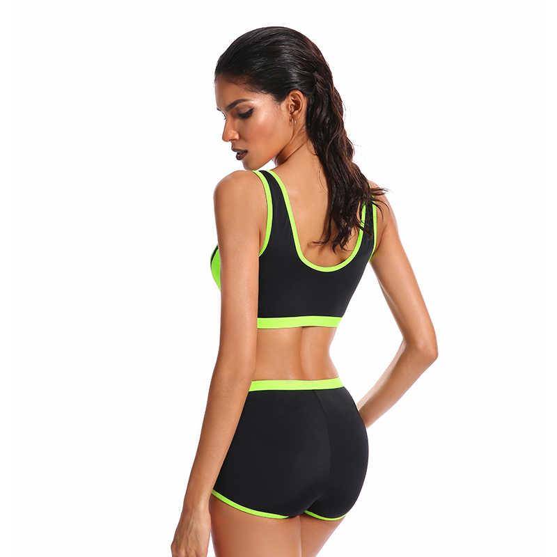 a2964e3d50 ... 2018 New Sports Bikini Women Yoga Boxer Shorts Workout Leggings Girl  Swimsuit Fitness Tankini 38- ...