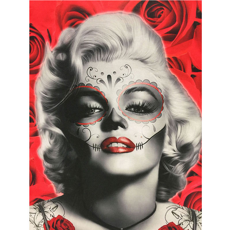 d97b764a0a16 Nouveau Couple T shirt Femmes Coton Mode 3D Caractères Imprimer Marilyn  Monroe Sexy Belle Avec Rose Rouge Marée T Shirt Camisetas Mujer dans T- Shirts de ...