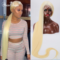 12 40 дюймов 42 дюйма длинные волосы с целой кружевой парик бразильский прямые волосы парик их натуральных волос парики #613 светлые волосы пред
