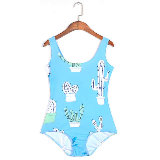 0d34616af28e2 Small fresh swimwear women swimming suit one piece swimsuit girls cactus  swimsuits swim suits competitive maillot de bain YY59