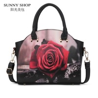 SUNNY SHOP New Arrival National Style Women Shoulder Bags Fashion Cartoon Design Women Bag Best Christmas