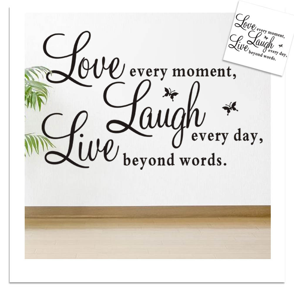 US $3.91 11% OFF|1 SET Hot Sales Promotion Live Love Laugh Letters  Transprent Waterproof Vinyl Wall Quotes Decal Home Decor Wall Stickers-in  Wall ...