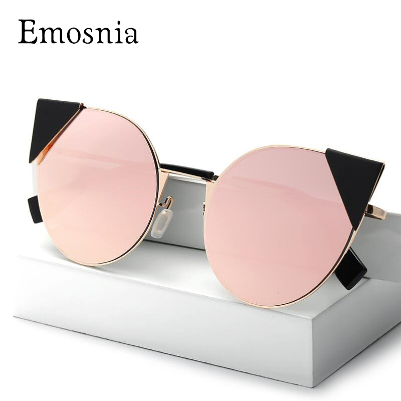 Emosnia New Oversized Sunglasses Women Brand Design Cat Eye Fashion Vintage Sequins Shade Sunglasses Female Oculos UV400 Lunette