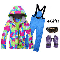 Hot Sale Women Skiing Jackets And Pants Snowboard Sets Thick Warm Waterproof Windproof Winter Female Ski