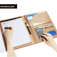Flash sale A4 size multifunctional cortical office file bag folder documents filing stationery products ring binder