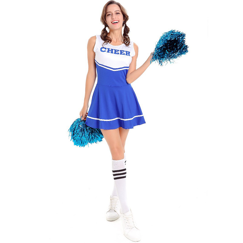 Zymfox Cheerleading Stage Dress Cheerleader Suits Sets Aerobics Costumes Sleeveless Dress Basketball Soccer Cheerleader Uniforms
