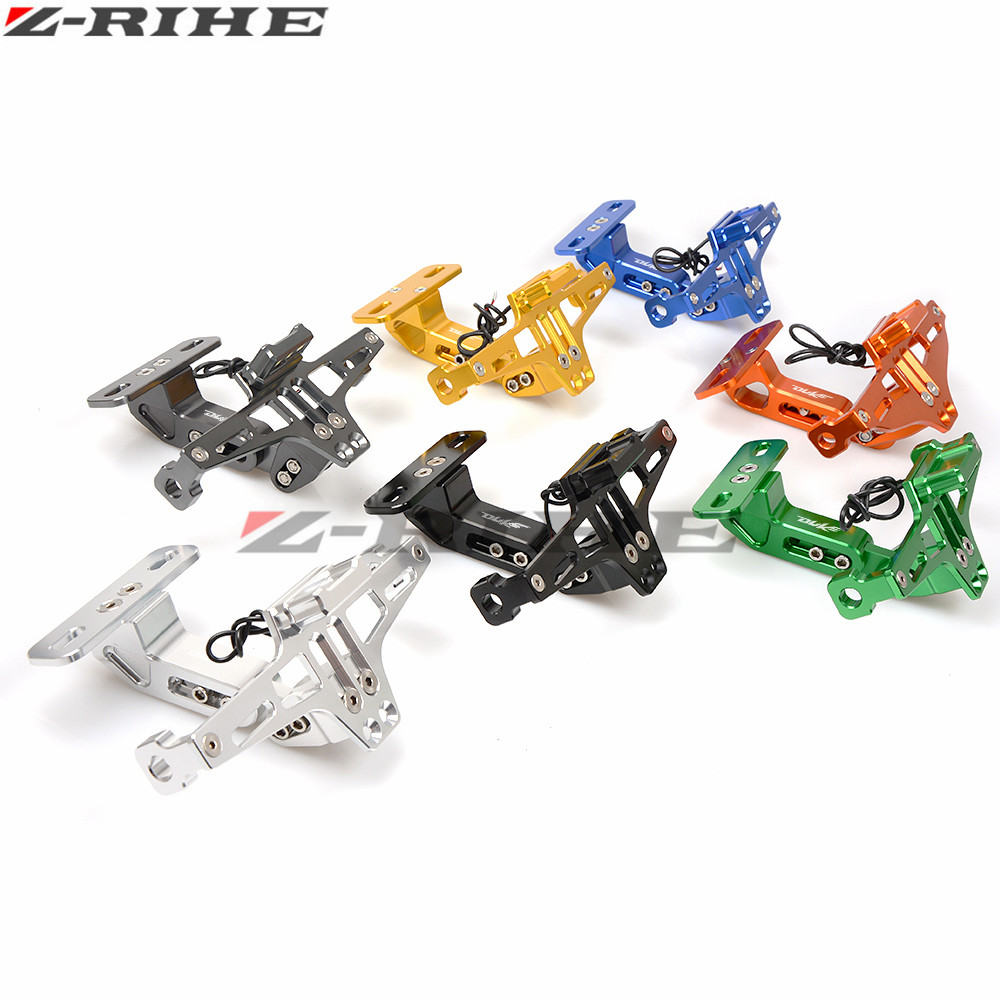 FOR DUKE LOGO Motorcycle License Plate Bracket Holder For KTM DUKE 390 690 125 200 DUKE 85 80 160 125 250 450 500 EXC EXCF EXC in Covers Ornamental Mouldings from Automobiles Motorcycles