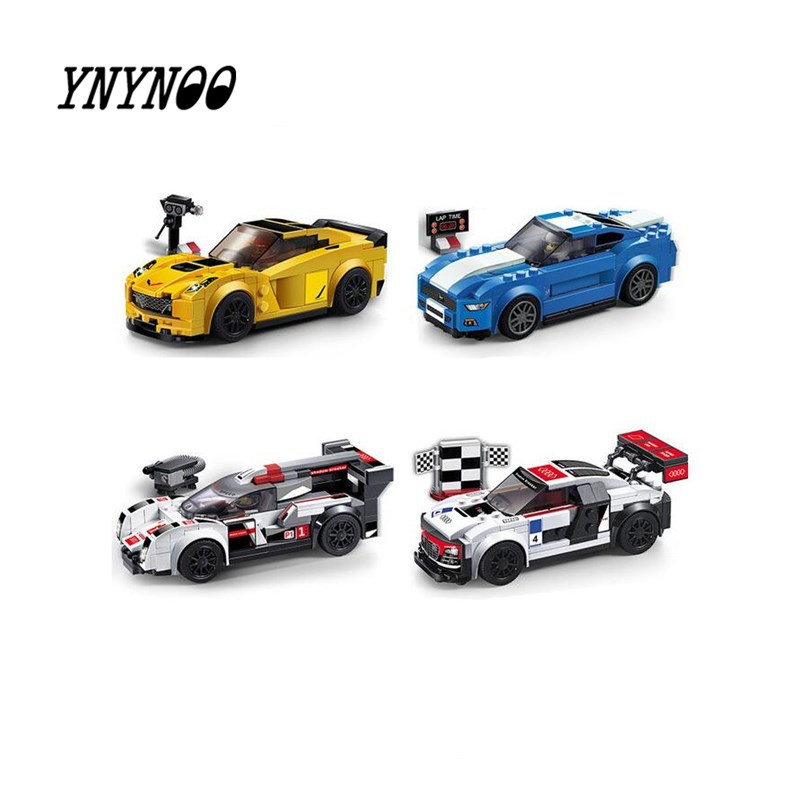 car Technic City Super Racers Speed Champions Supercar Racing Z06 R8 R18 Building Block Brick toys Legoingly riggs r hollow city