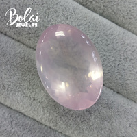 Bolaijewelry,100% Natural big oval rose quartz 24.18*34.35*14.04mm 67.4ct loose gemstone for jewelry