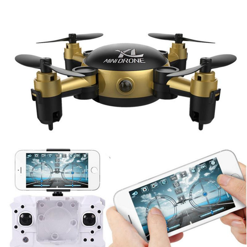 YL S18 Foldable Camera Drone RC Mini Wifi Quadcopter 2.4 4CH 6-Axis Gyro 3D UFO FPV RC sky surfer toys for children S3APR26 wholesale eagle a3 super ii flight controll gyro 3d avcs for fixed fpv half set