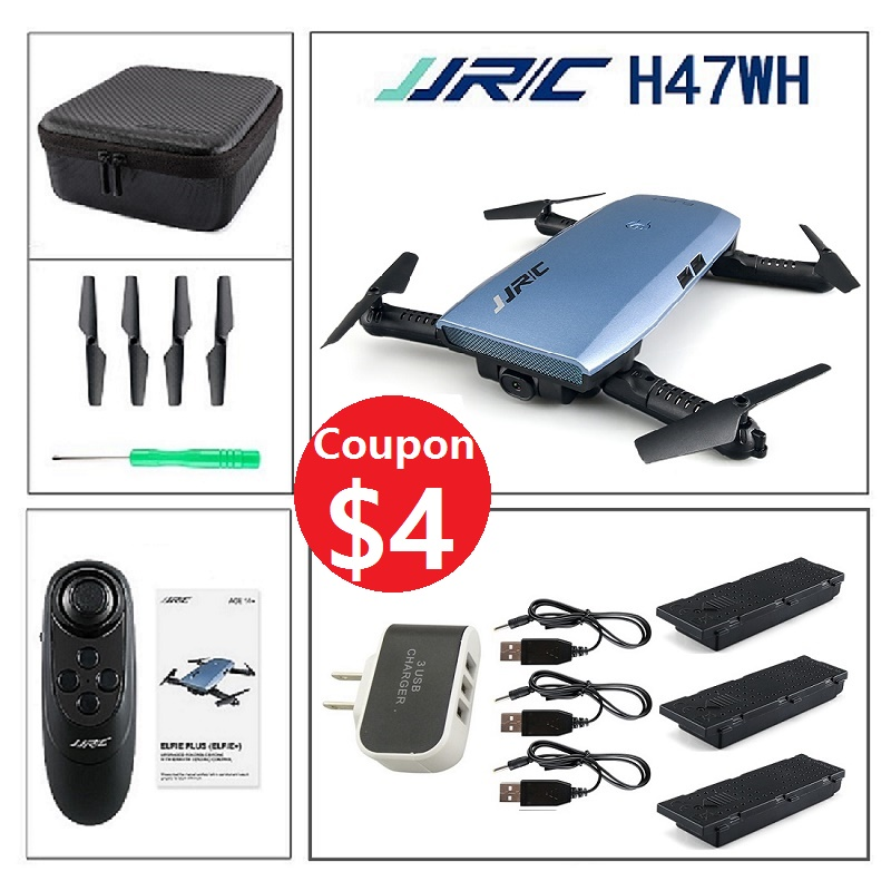 JJRC H47WH Beauty Mode 720P Camera WIFI FPV Foldable Drone G-Sensor 4CH 6Axis Altitude Hold RC Quadcopter VS H37 E50 T37 E56 jjrc h39wh h39 foldable rc quadcopter with 720p wifi hd camera altitude hold headless mode 3d flip app control rc drone