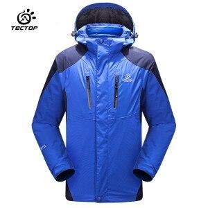 Tectop hiver childen garçon fille manteau + doublure en duvet extérieur vestes thermique imperméable coupe-vent respirant randonnée camping manteau
