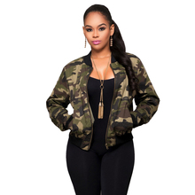 2017 Short Print Camouflage Jacket Women Coat Autumn Winter