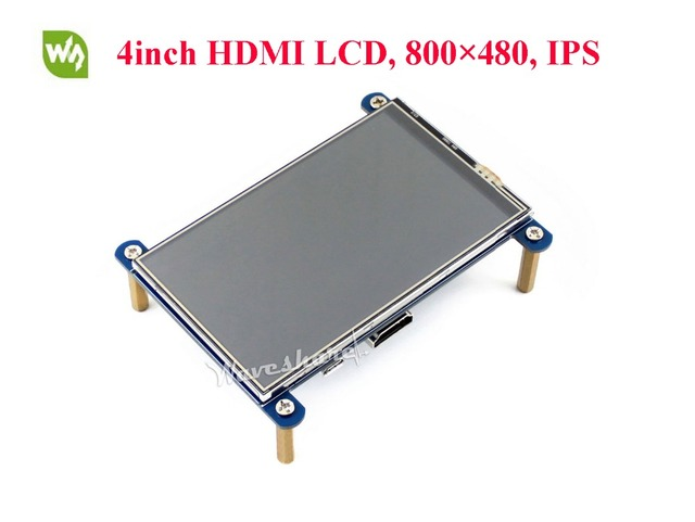 Waveshare 4inch HDMI LCD Display 800*480 Resistive Touch Screen LCD IPS Screen for Raspberry Pi
